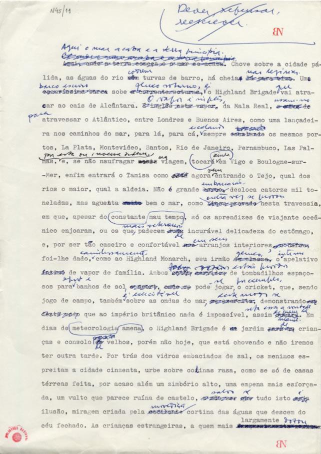 manuscrito saramago