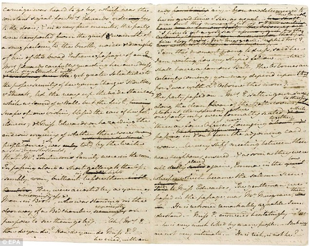 manuscritos jane austen
