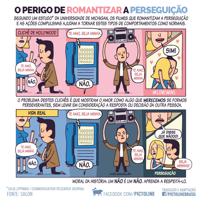 Indústria romantizando stalkers