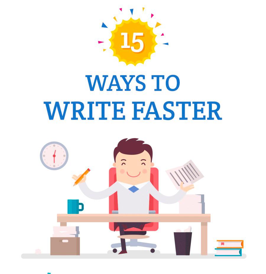 15 maneiras de escrever mais rápido e se tornar um escritor