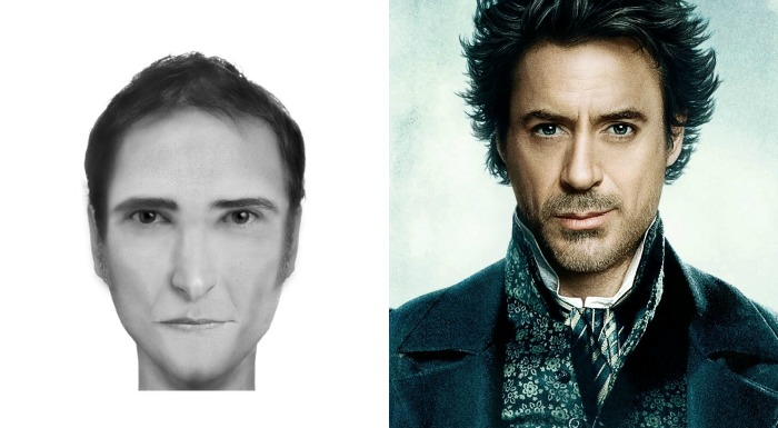 Compare o retrato falado de personagens literários com intérpretes do cinema